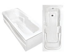 Гидромассажная акриловая ванна Bach Виктория 180х80 см, G