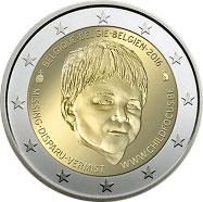 20 лет Европейскому центру по делам пропавших детей 2 евро Бельгия 2016 UNC на заказ
