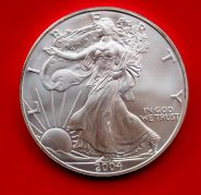 1 доллар Шагающая свобода (Ag999 серебро), 2004г. Идеальное состояние