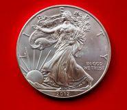 1 доллар Шагающая свобода (Ag999 серебро), 2012г. Идеальное состояние