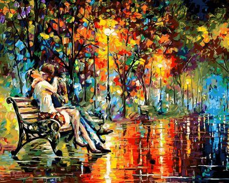 """Раскраска по номерам """"Осенний поцелуй"""""""