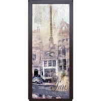 Наклейка на дверь - Ретро открытка | магазин Интерьерные наклейки