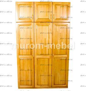 Шкаф 3-дверный с антресолью Визит (150х60х240)