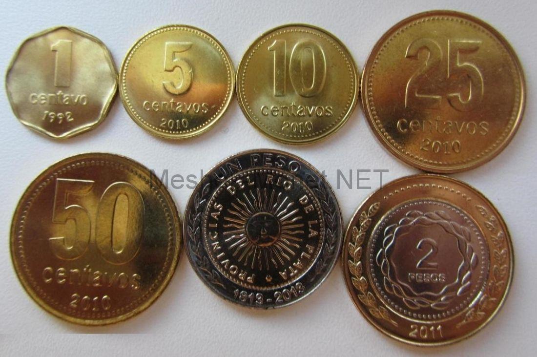 Аргентина Набор разменных монет 1992-2013 г