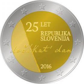 25 лет независимости Республики Словения 2 евро Словения 2016 на заказ