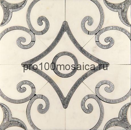 AСM (w)-4/2 Плитка 305*305 серия ALСAMO (white), размер, мм: 305*305*10 (Skalini)