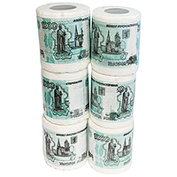 Туалетная бумага 1000 рублей мини