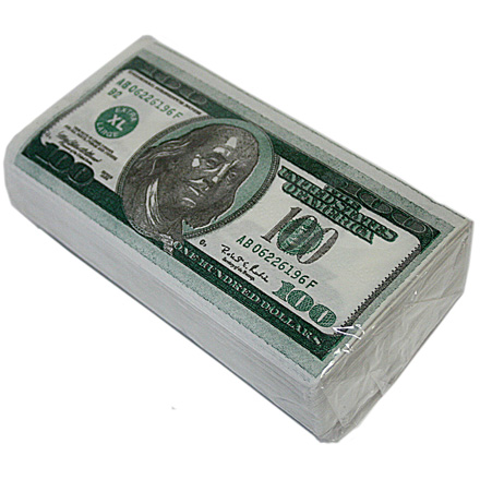 Салфетки Пачка 100 $ 2-х слойные
