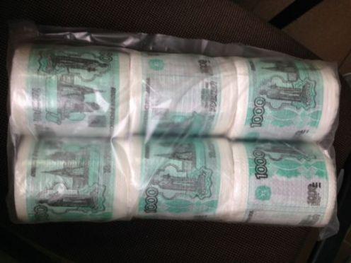 Туалетная бумага 1000 р ( 6 шт)