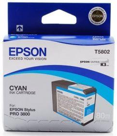 Картридж оригинальный EPSON T5802 голубой для Stylus Pro 3800 C13T580200