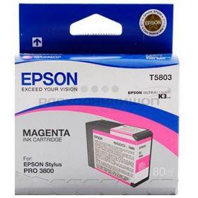 Картридж оригинальный EPSON T5803 пурпурный для Stylus Pro 3800 C13T580300