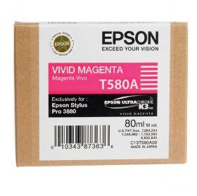 Картридж оригинальный EPSON T580A пурпурный для Stylus Pro 3880 C13T580A00