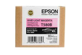 Картридж оригинальный EPSON T580B светло-пурпурный для Stylus Pro 3880 C13T580B00