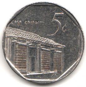Куба 5 сентаво 1998