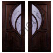 Двери Карелия-2 шпон мореный дуб