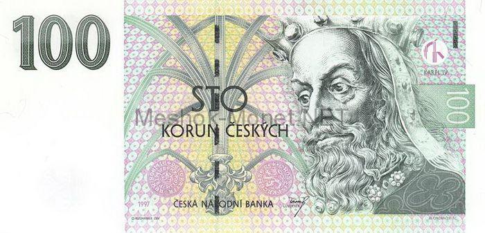 Банкнота Чехия 100 крон 1997 г