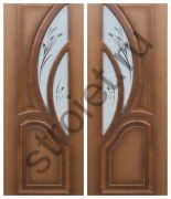 Двери Карелия-2 шпон орех