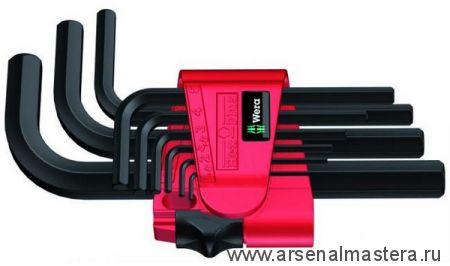 Набор Г-образных ключей, метрических, WERA 950/9 BM N BlackLaser 9 шт WE-021737