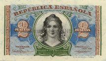 Банкнота Испания 2 песет 1938 г