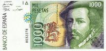 Банкнота Испания 1 000 песет 1992 г
