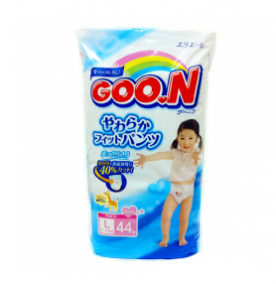 Трусики Goon L (9-14 кг), 44 шт/уп для девочек