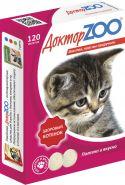 Доктор ZOO Здоровый котенок Мультивитаминное лакомство для котят (120 табл.)