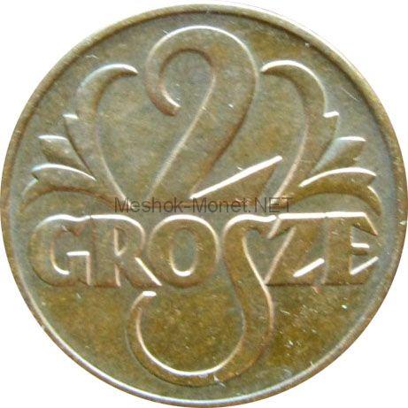 Польша 2 грош 1938 г.