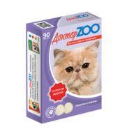 Доктор ZOO Лосось Мультивитаминное лакомство для кошек (90 табл.)