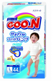 Трусики Goon L (9-14 кг), 44 шт/уп для мальчиков