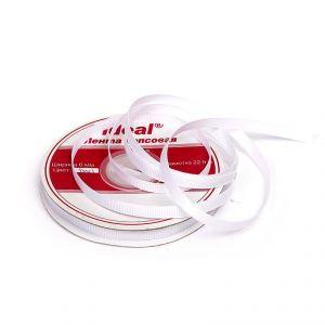 `Лента репсовая, ширина 3 мм, цвет белый