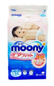 Подгузники Moony L (9-14кг), 54 шт/уп
