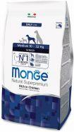 Monge Dog Daily Line Medium Senior Корм для пожилых собак средних пород (3 кг)