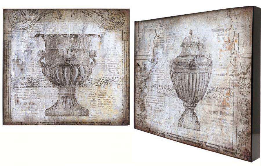 """Картина """"Античность"""" (пара), 38x38 см"""