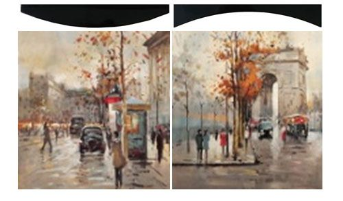 "Картина ""Осень в Париже"" (пара), 58х58 см"