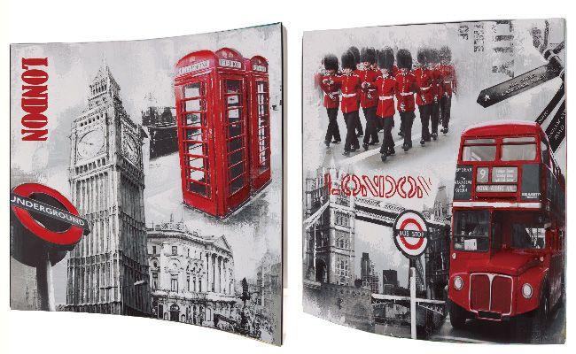 "Картина ""Стиль Лондона"" (пара), 38х38 см"