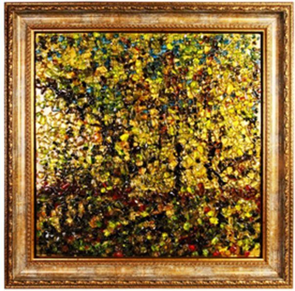 """Картина стеклянная """"Золотая осень"""", 60х60 см"""