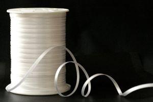 Атласная лента, ширина 3 мм, цвет: белый, длина: 91,4 метра (+-0,4м)