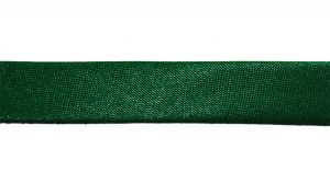`Косая бейка, атласная, ширина 15 мм, цвет: темно-зеленый