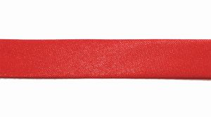`Косая бейка, атласная, ширина 15 мм, цвет: красный