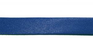 `Косая бейка, атласная, ширина 15 мм, цвет: синий