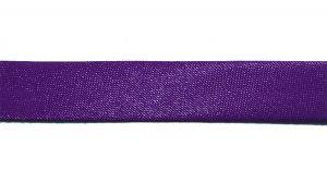 `Косая бейка, атласная, ширина 15 мм, цвет: фиолетовый