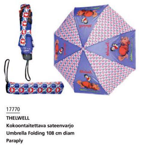 Складной зонтик с лошадками