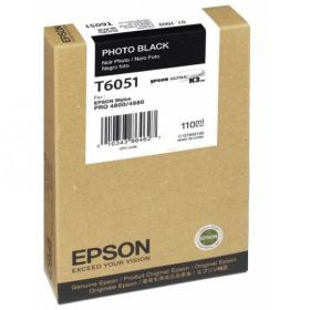 Картридж оригинальный EPSON T6051 черный фото для Stylus Pro 4880 C13T605100