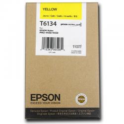 Картридж оригинальный EPSON T6134 желтый для Stylus Pro 4450 C13T613400