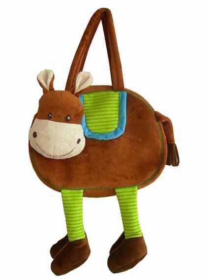 Детская мягкая сумка в форме лошадки