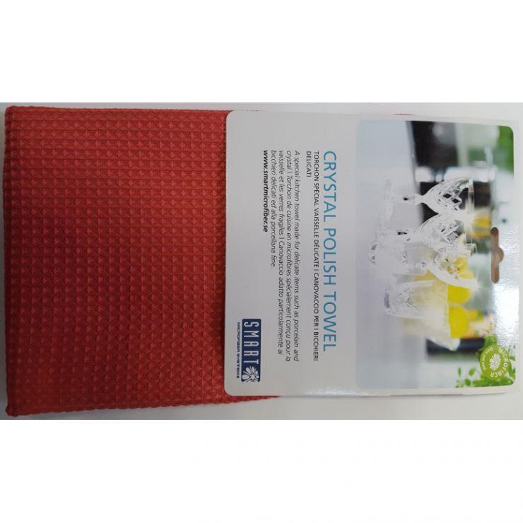 Smart Microfiber Полотенце для ценной посуды 40х60 красное