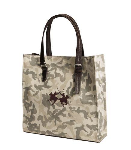 """Холщовая сумка """"Horse Comfort"""" POLO с кожаными ручками"""