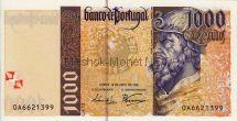 Банкнота Португалия 1000 эскудо 1996 год