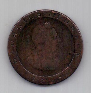 1/2 пенни 1798 г. Остров Мэн (Великобритания)