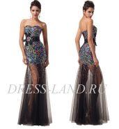 Блестящее вечернее платье в пол